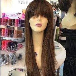 Brown wig bangs warm honey brown 2019 hairstyle